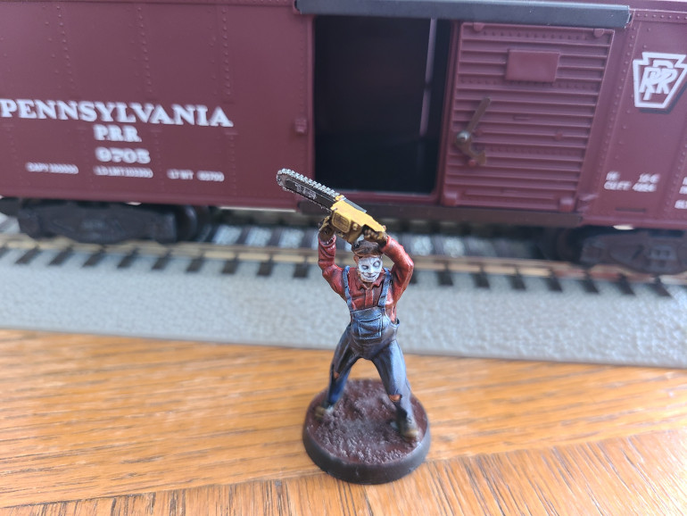 Boxcar Willie with his KIL chainsaw.