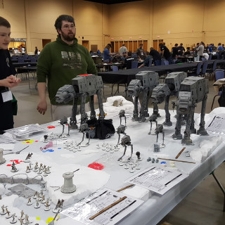 An AT-AT Is Under Fire At Hoth