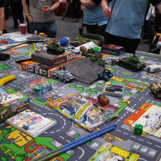 Wargaming with Lego Tanks Gaming Table