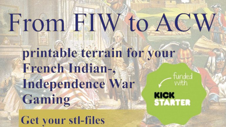 Historical 3D Print Files for French Indian War to the War of Independence