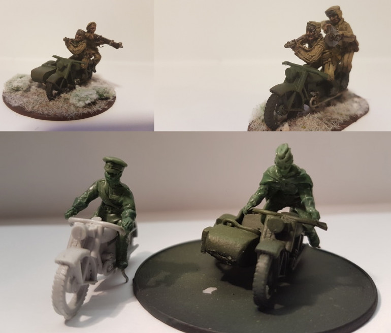 28mm WW2 Motorcycle Riders