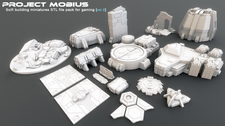 3D Printable Sci-Fi Structures For Tabletop Gaming Vol 2