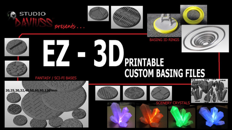 EZ 3D PRINTABLE CUSTOM BASE FILES