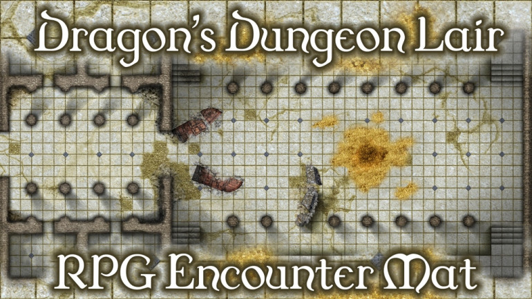 BattleMats: Dragon's Dungeon Lair Giant RPG Encounter Mat