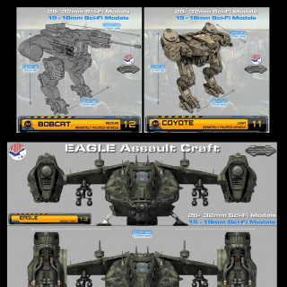 US-IMF : 28mm & 15mm Sci-fi Armour
