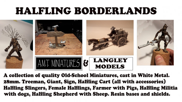 Halfling Borderlands 28mm Miniatures White Metal Fantasy