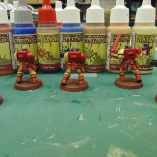 Lost Patrol - Blood Raven Scouts Washed and Ready for Highlighting
