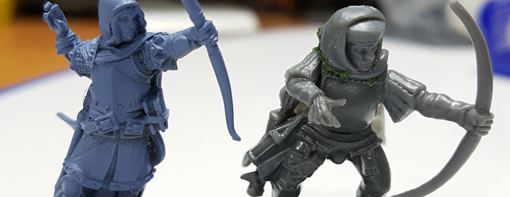 Lloyd's Kitbashed Archer Vs Official Fabled Realms Miniature
