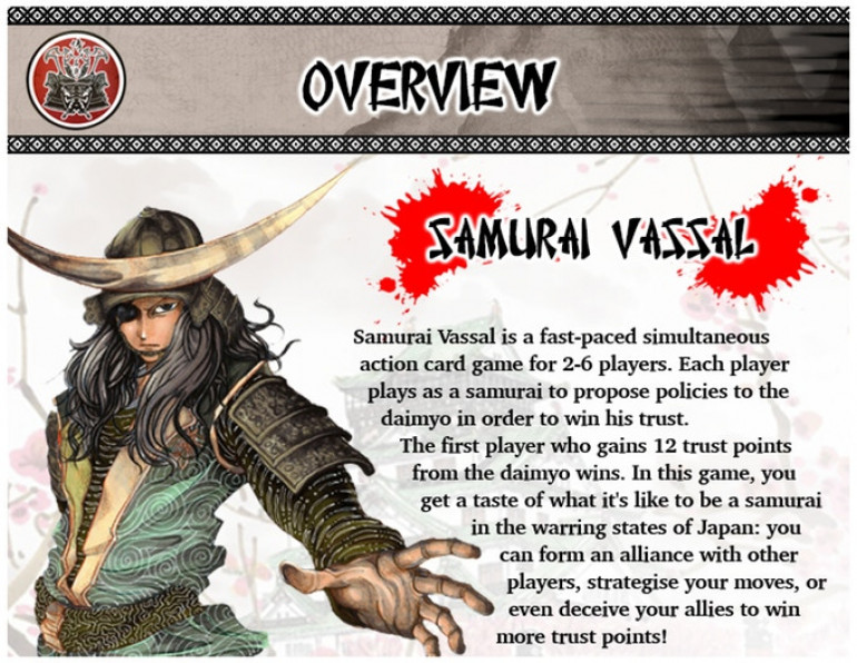 Samurai Vassal - The Card Game KS Commissions