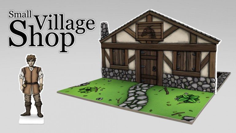 Village Shop | Fantasy Paper Miniature for tabletop RPG