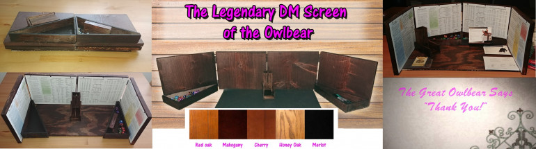 Legendary DM Screen of the Owlbear