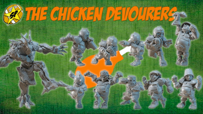 The Chicken Devourers Halfling Fantasy football.