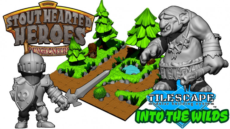 Stout-Hearted Heroes™ DUNGEONEERS + TileScape Into the Wilds