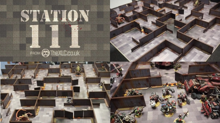 Station 111 - Printed MDF Space station and Gaming Mat