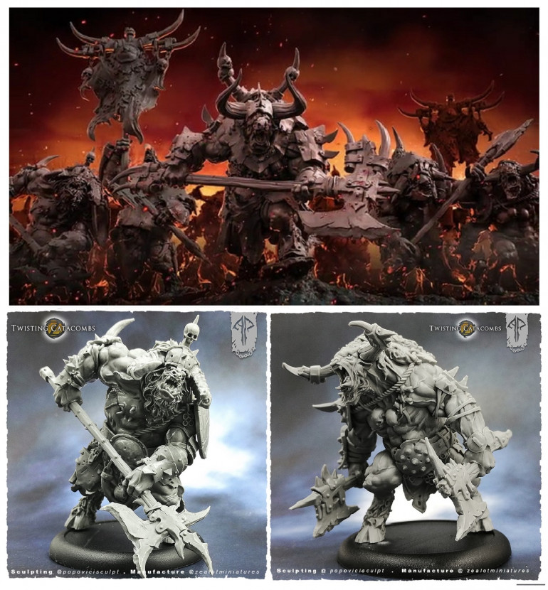 Twisting Catacomb The Minotaur Horde