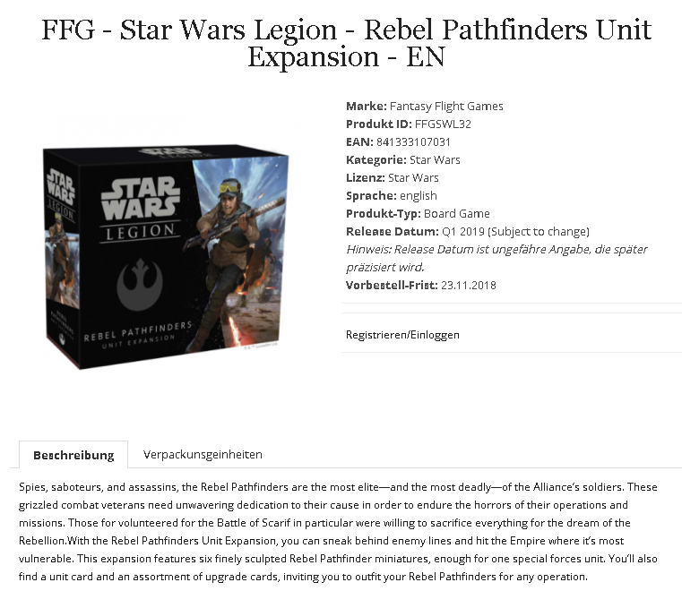 Leaked new Star Wars Legion Units – OnTableTop – Home of Beasts of War